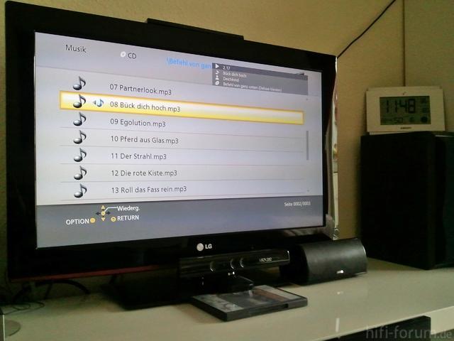 MP3-CD Wiedergabe Vom BDT320 Auf LG 32LD350
