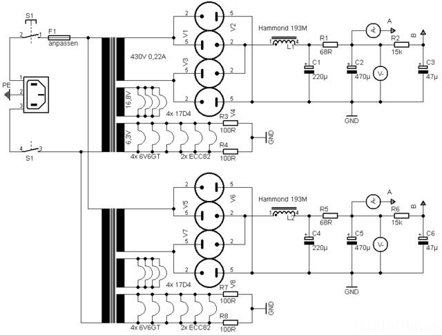 6V6GT PP Mit ECC83 ECC82 Netzteil