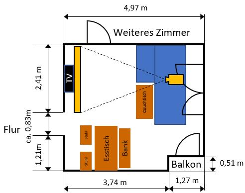 Raum- Und Möblierungsplan