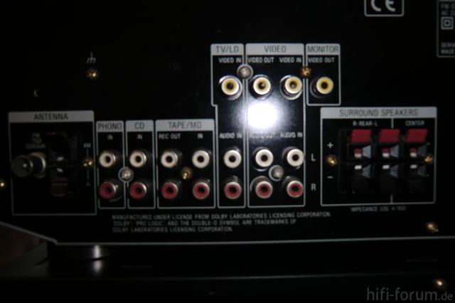 Anschlüsse Anlage Sony  STR DE405