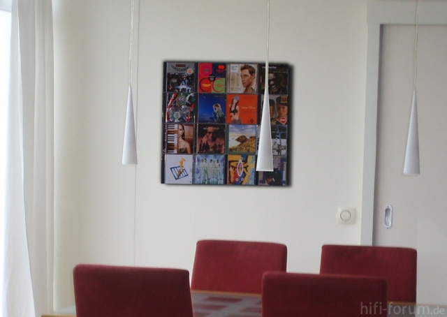 CD-Wanddisplay Im Esszimmer