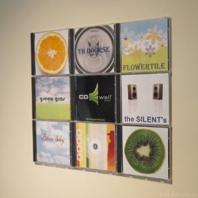 CD-Wandregal CD-Wall 3x3