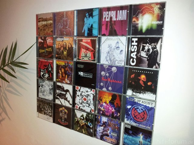 CD-Wandregal Von CD-Wall
