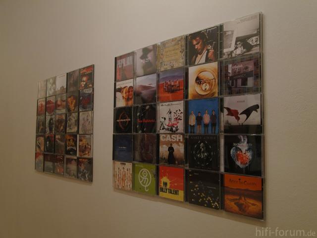 Schöne CD-Wand Mit 2 CD-Wall5x5 Machen Aus Unserem Flur Eine Ausstellung