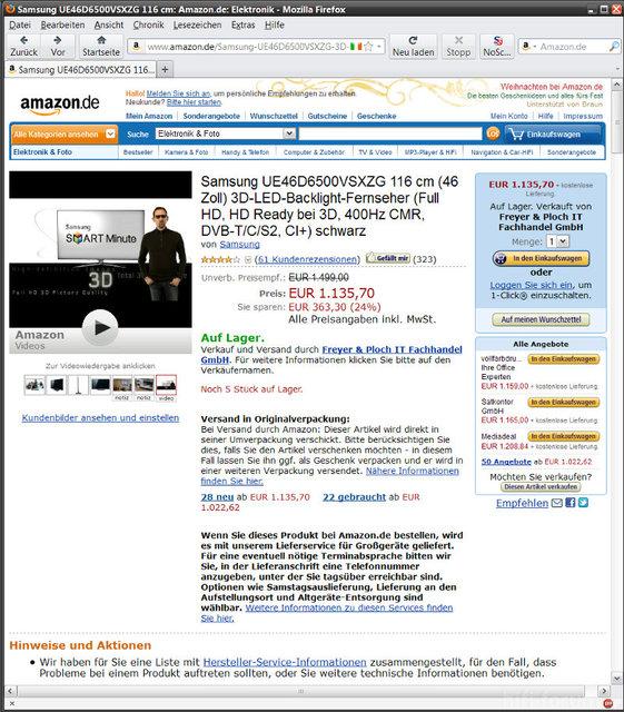 Amazon-Werbung Vom 4.11.2011