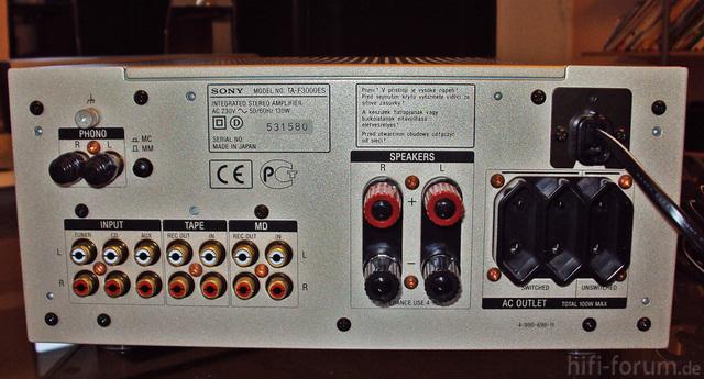Sony TA-F 3000 ES Rückseite