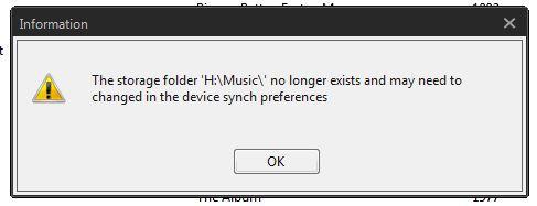 MusicBee Fehlermeldung