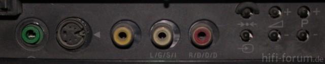 Front Anschlüsse Sony