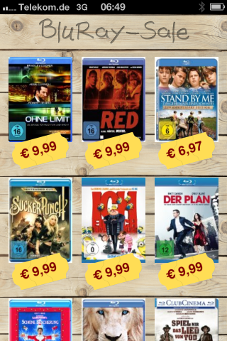 Screenshot BluRay-Sale