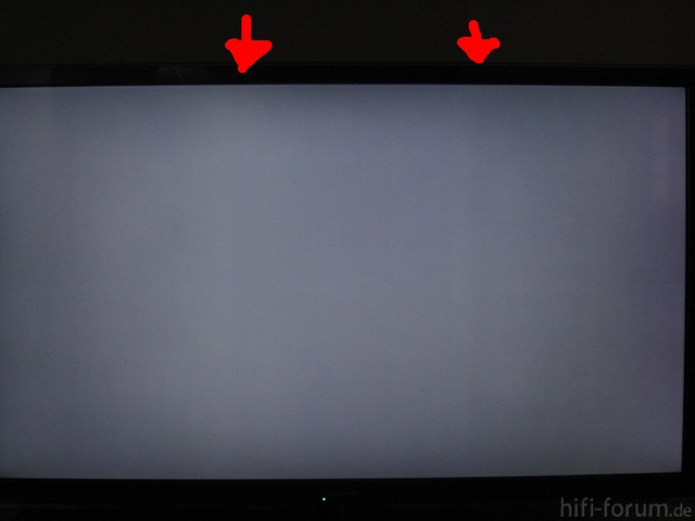 Panasonic Viera TX-L47ETW5 Testbild Sehr Dunkles Grau Vertikalstriche