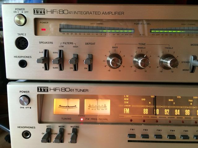 ITT HiFi 8041 Verstärker ITT HiFi 8061 Tuner ITT HiFi 8022 Tapedeck