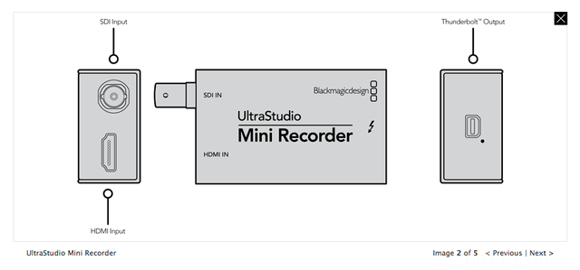 UltraStudio Mini Recorder - $145