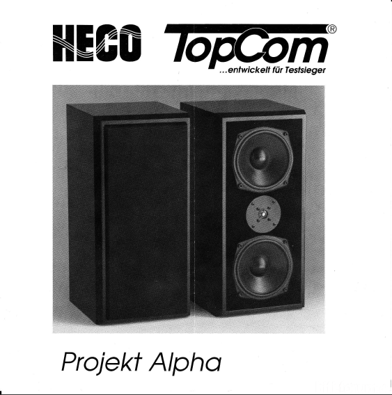 Heco Topcom Projekt Alpha - Bild 1