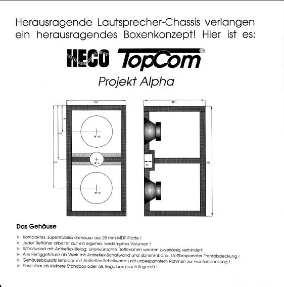 Heco Topcom Projekt Alpha - Bild 2