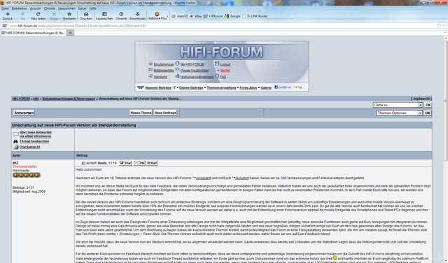 Design Hifi-Forum Neu