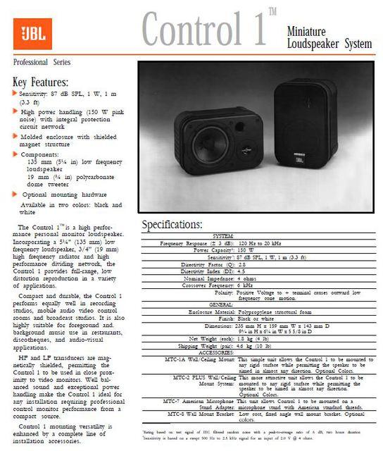 JBL Control 1