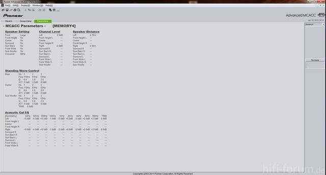 MCACC Parameters