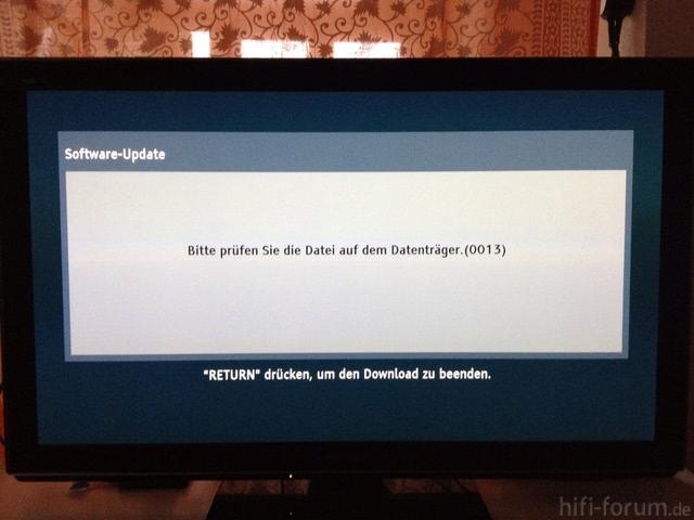 Systemupdate Fehler 0013