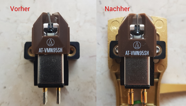 AT-VM95SH Vorher - Nachher