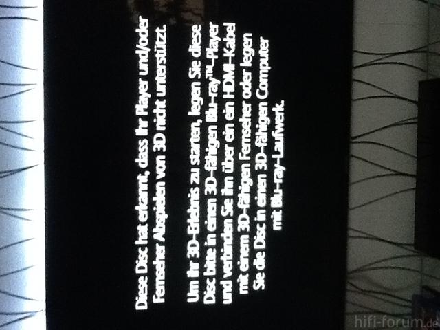 Fehlermeldung Bei BluRay Alice Im Wunderland 3D
