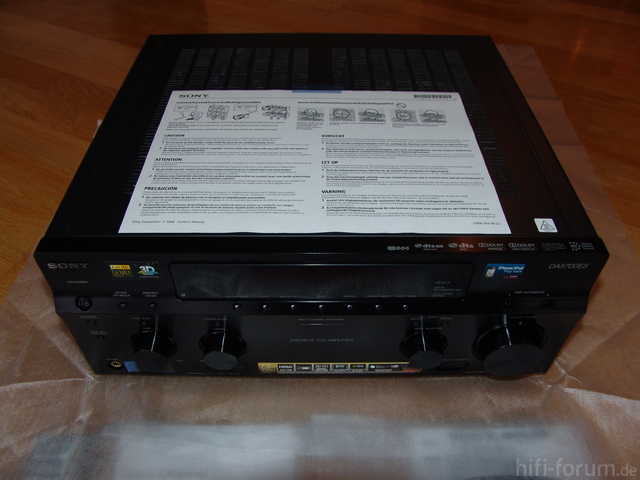 SONY STR-DA5700ES - Ausgepackt 01