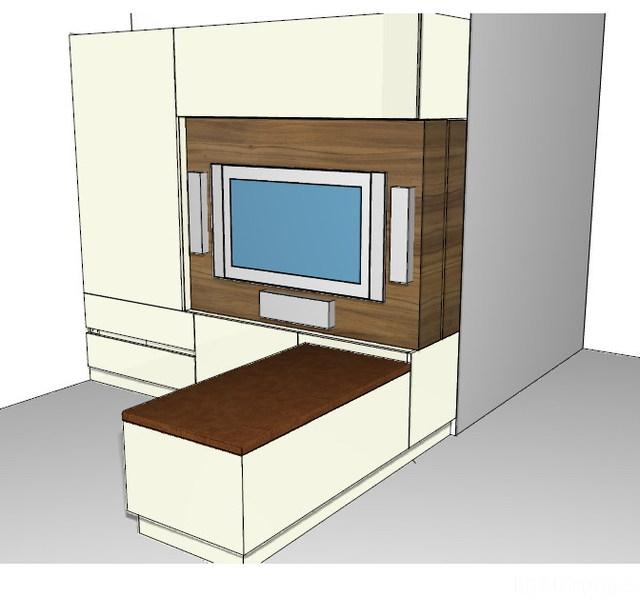 Schrankwand 3D