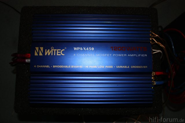 WITEC WPA-X450 4 Kanal Endstufe