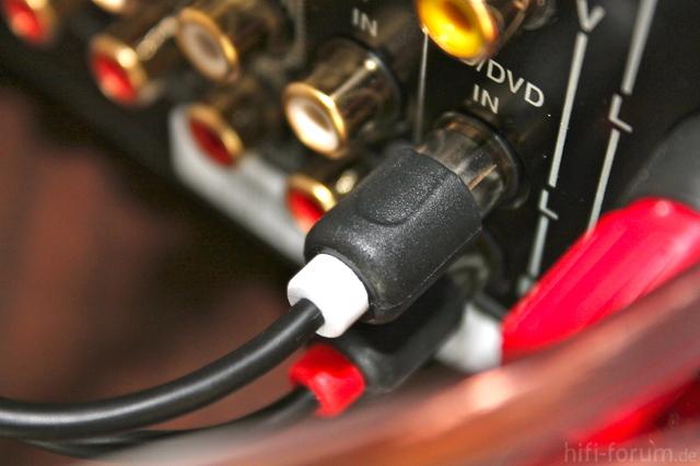Kabel Am Verstärker (DVD Eingang)