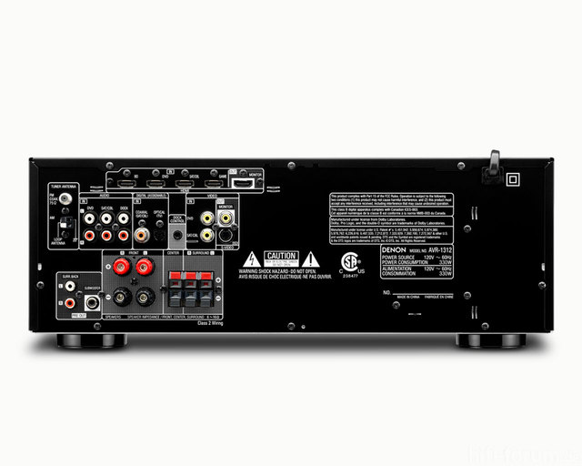 Denon AVR1312 - Connections
