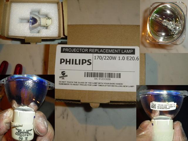 Philips UHP 1.0 E20.6 220/170w Für SAMSUNG SP-A600b