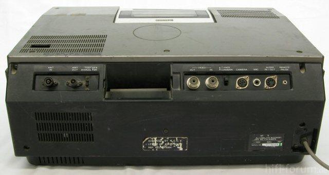 Rückseite Betamax