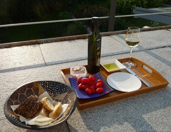 Abendessen Auf Dem Balkon