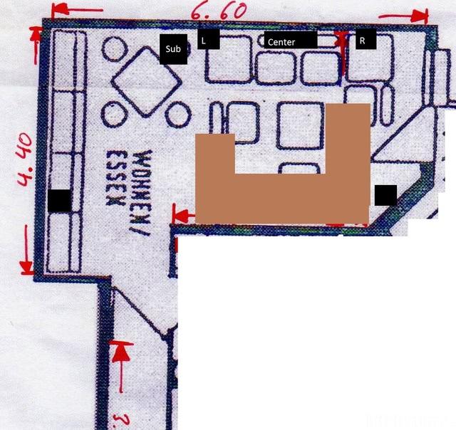 Wohnungsplan Wohnzimmer