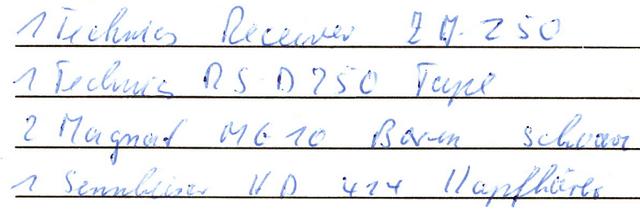 Technics Stereoanlage 1986