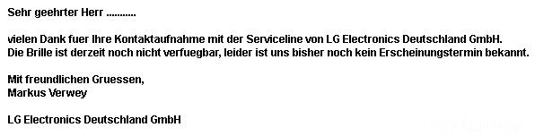 LG Antwort