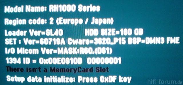 Firmware Und BIOS Version Und Region Code