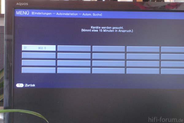 Hier Sieht Man Den Sendersuchlauf Im Digitalbereich.