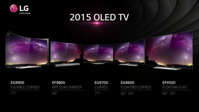 LG 4K OLED TVs 2015