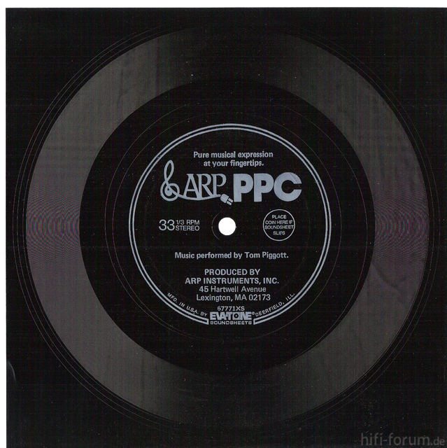 ARP PPC Werbeplatte