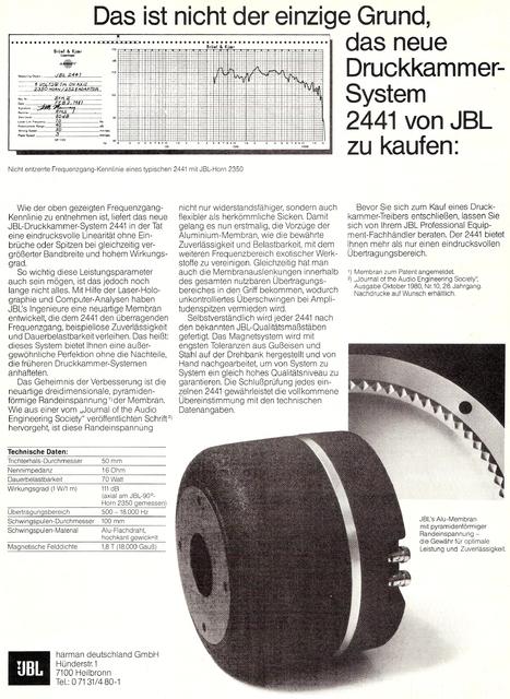 JBL 2441 Werbung