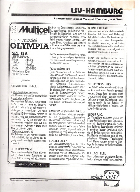 Multicell Olympia 1