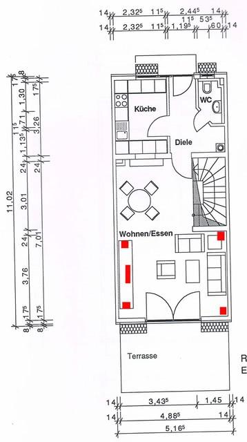 Grundriss Wohn-Essbereich