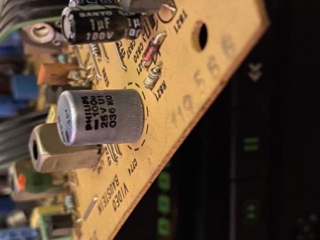 Grundig VS 380 Video Platine Kondensator