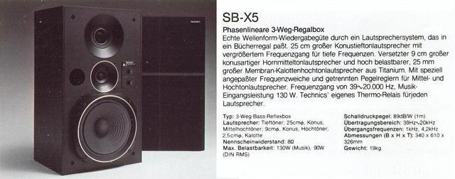 Technics SB-X5