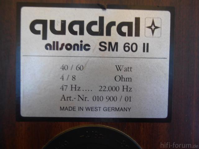 Quadral Sm 60 II