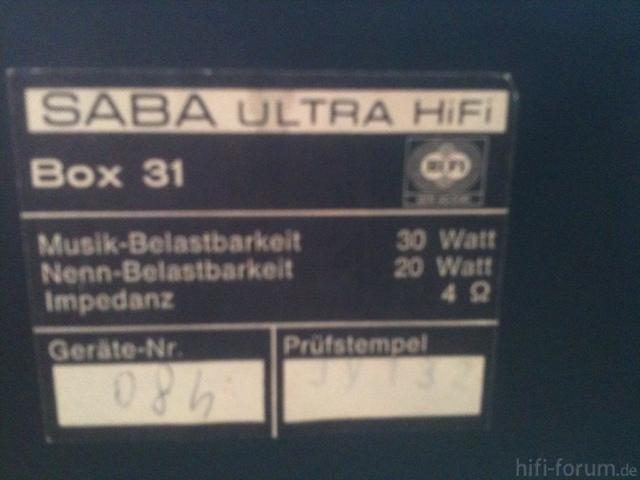 Saba Ultra Hifi Box 31