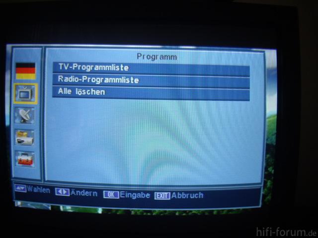 Programmeinstellungen