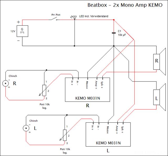 Schaltplan Beatbox Beta3