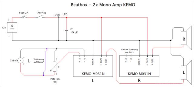 Mini Stereo Beatbox bauen mit 2x 3.5W Mono-Verstärker (KEMO ...