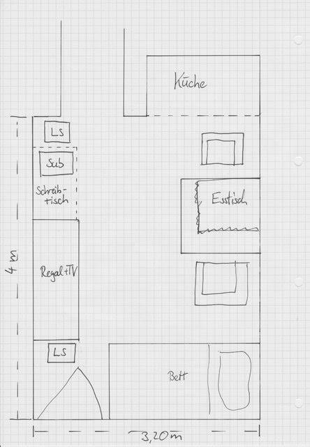 Skizze Lautsprecher Aufstellung